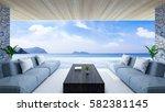 modern room interior  near... | Shutterstock . vector #582381145