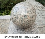 Pink And Blue Marble Sphere