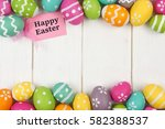 happy easter gift tag with... | Shutterstock . vector #582388537