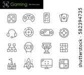 gaming and video games related... | Shutterstock .eps vector #582394735