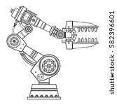 industrial robot arm vector...   Shutterstock .eps vector #582396601