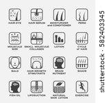 skin icon and vector . hair dye ... | Shutterstock .eps vector #582403345