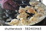 thai style takoyaki with...   Shutterstock . vector #582403465
