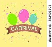 carnival gift vector | Shutterstock .eps vector #582405805