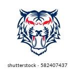 modern confidence animal sport... | Shutterstock .eps vector #582407437
