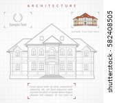 architectural plan of building... | Shutterstock .eps vector #582408505