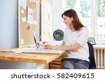 successful young woman ... | Shutterstock . vector #582409615