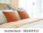 lively style bedding  orange... | Shutterstock . vector #582409915