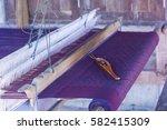thai mini weaving equipment | Shutterstock . vector #582415309