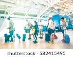 blurred defocused people... | Shutterstock . vector #582415495