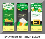 st. or saint patrick's day... | Shutterstock .eps vector #582416605