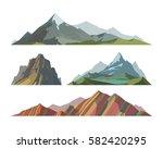 mountain mature silhouette... | Shutterstock .eps vector #582420295
