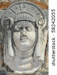 a fat face in a head dress... | Shutterstock . vector #58242055
