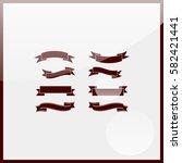 retro ribbon set. | Shutterstock .eps vector #582421441