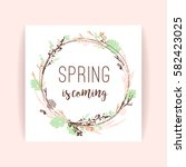 Spring Frame Of Branches And...