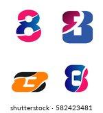 vector sign spherical number 8... | Shutterstock .eps vector #582423481