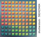 icon collection vector... | Shutterstock .eps vector #582425404