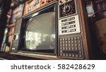 antique grunge portable black... | Shutterstock . vector #582428629