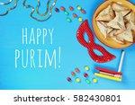purim celebration concept ... | Shutterstock . vector #582430801