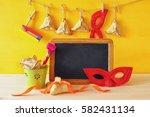 purim celebration concept ...   Shutterstock . vector #582431134