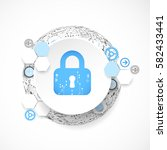 protection concept. security... | Shutterstock .eps vector #582433441