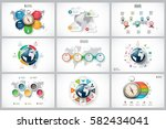 vector infographics set with... | Shutterstock .eps vector #582434041