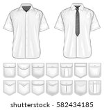 shirt pockets design. vector... | Shutterstock .eps vector #582434185