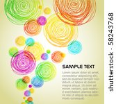 drawn colorful circle background