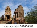 beautiful carved ancient jain... | Shutterstock . vector #582438601