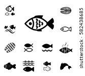 set of fish vector icon... | Shutterstock .eps vector #582438685