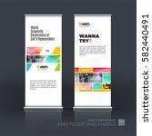 abstract business vector set of ... | Shutterstock .eps vector #582440491