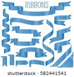 realistic ribbons set isolated... | Shutterstock .eps vector #582441541