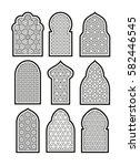 arabic or islamic windows set.... | Shutterstock .eps vector #582446545