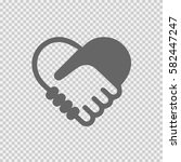 handshake symbol forming a... | Shutterstock .eps vector #582447247