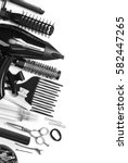 Tools Hairdresser's Top View O...