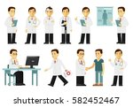 medicine people character set... | Shutterstock .eps vector #582452467