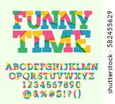 vector set of creative letters  ... | Shutterstock .eps vector #582455629