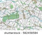 colorful berlin vector city map. | Shutterstock .eps vector #582458584