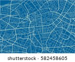 blue and white vector city map... | Shutterstock .eps vector #582458605