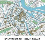 colorful amsterdam vector city... | Shutterstock .eps vector #582458635