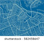 blue and white vector city map... | Shutterstock .eps vector #582458647