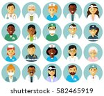 medicine set with doctors and... | Shutterstock .eps vector #582465919