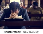 church people believe faith... | Shutterstock . vector #582468019