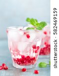 infused pomegranate water with...   Shutterstock . vector #582469159