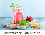 infused pomegranate water with... | Shutterstock . vector #582469165
