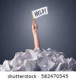 female hand emerging from... | Shutterstock . vector #582470545