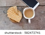 coffee break and relax time... | Shutterstock . vector #582472741