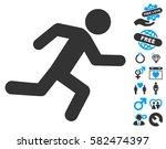 running man icon with bonus... | Shutterstock .eps vector #582474397