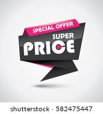 glossy special offer super... | Shutterstock .eps vector #582475447
