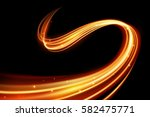 glowing magic light effect and...   Shutterstock .eps vector #582475771